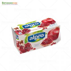 """ALPRO Десерт соевый йогуртный """"Гранатовый"""" 2х125 г"""