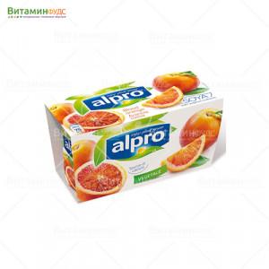 """ALPRO Десерт соевый йогуртный """"Красный апельсин"""" 2х125 г"""