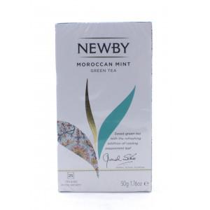 Чай NEWBY зеленый Марокканская мята, 25 пакетиков 50 г