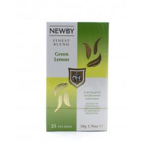 Чай NEWBY зеленый Лимон, 25 пакетиков 50 г