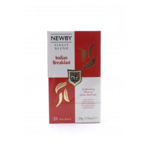 Чай NEWBY черный Индийский завтрак, 25 пакетиков 50 г