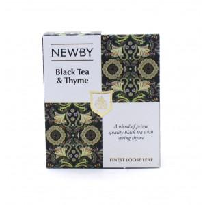 Чай NEWBY черный с чабрецом 100 г