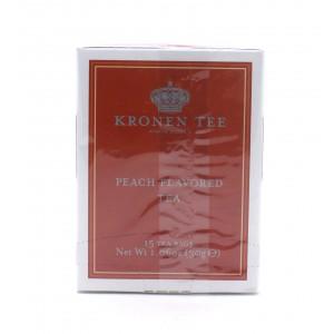 Чай KRONEN черный Персик, 15 пакетиков 30 г