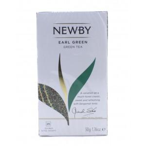 Чай NEWBY черный Эрл грин, 25 пакетиков 50 г