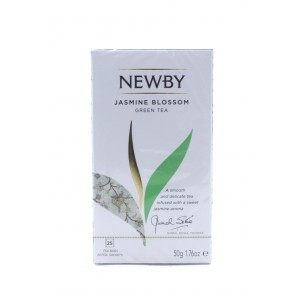 Чай NEWBY зеленый Цветок жасмина, 25 пакетиков 50 г