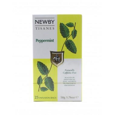Чай NEWBY черный Мята перечная, 25 пакетиков 50 г