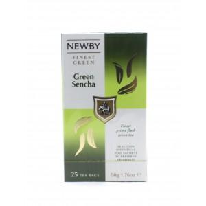 Чай зеленый NEWBY Зеленая сенча, 25 пакетиков 50 г