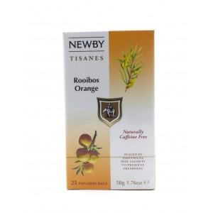 Чай NEWBY Ройбос Апельсин, 25 пакетиков 50 г