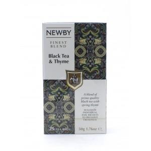 Чай NEWBY черный с чабрецом, 25 пакетиков 50 г