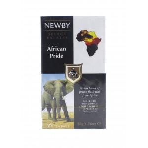 Чай NEWBY черный Гордость Африки, 25 пакетиков 50 г