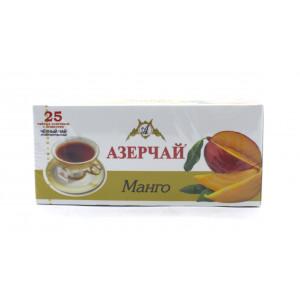Чай АЗЕРЧАЙ черный Манго, 25 пакетиков 45 г