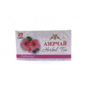 Чай АЗЕРЧАЙ черный Гибискус, 20 пакетиков 50 г