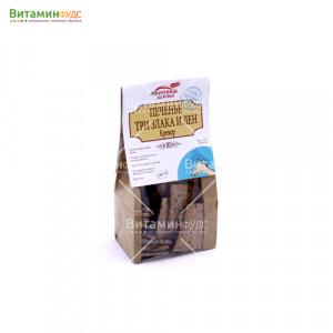 Печенье ручной работы Крекер (Три злака и лен) 100% натуральный продукт Житница Здоровья 150 г