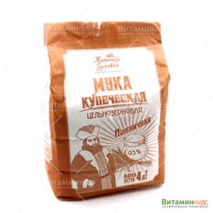 Мука пшеничная цельнозерновая Купеческая Житница здоровья 2 кг