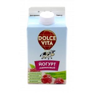 "Йогурт с Малиновым Сиропом ""DOLCE VITA"" 25% 450 гр"