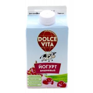"""Йогурт с Вишневым Сиропом """"DOLCE VITA"""" 25% 450 гр."""