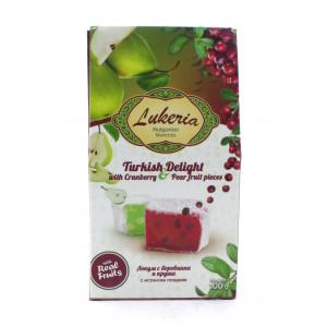 """Рахат-лукум """"Lukeria"""" со вкусом клюквы и груши 100 г"""