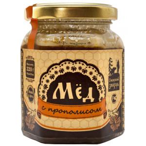 Мёд натуральный с Прополисом, 200 мл