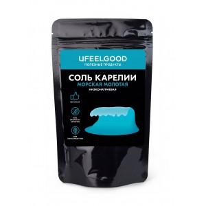 Морская соль Карелии низконатриевая молотая UFEELGOOD, 100 г.