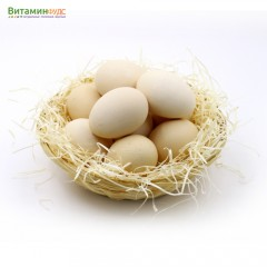 Яйца большие домашние двухжелтковые 10 шт